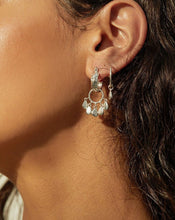 Load image into Gallery viewer, Jasmin Shaker Hoops - Silver | Luv AJ Women's Earrings