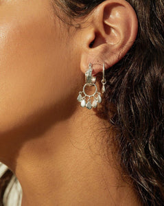 Jasmin Shaker Hoops - Silver | Luv AJ Women's Earrings