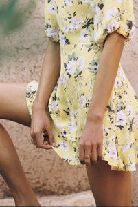 Jeanette Dress in Pomeline Floral Print Jasmin Yellow by Faithfull The Brand | Womens Dresses
