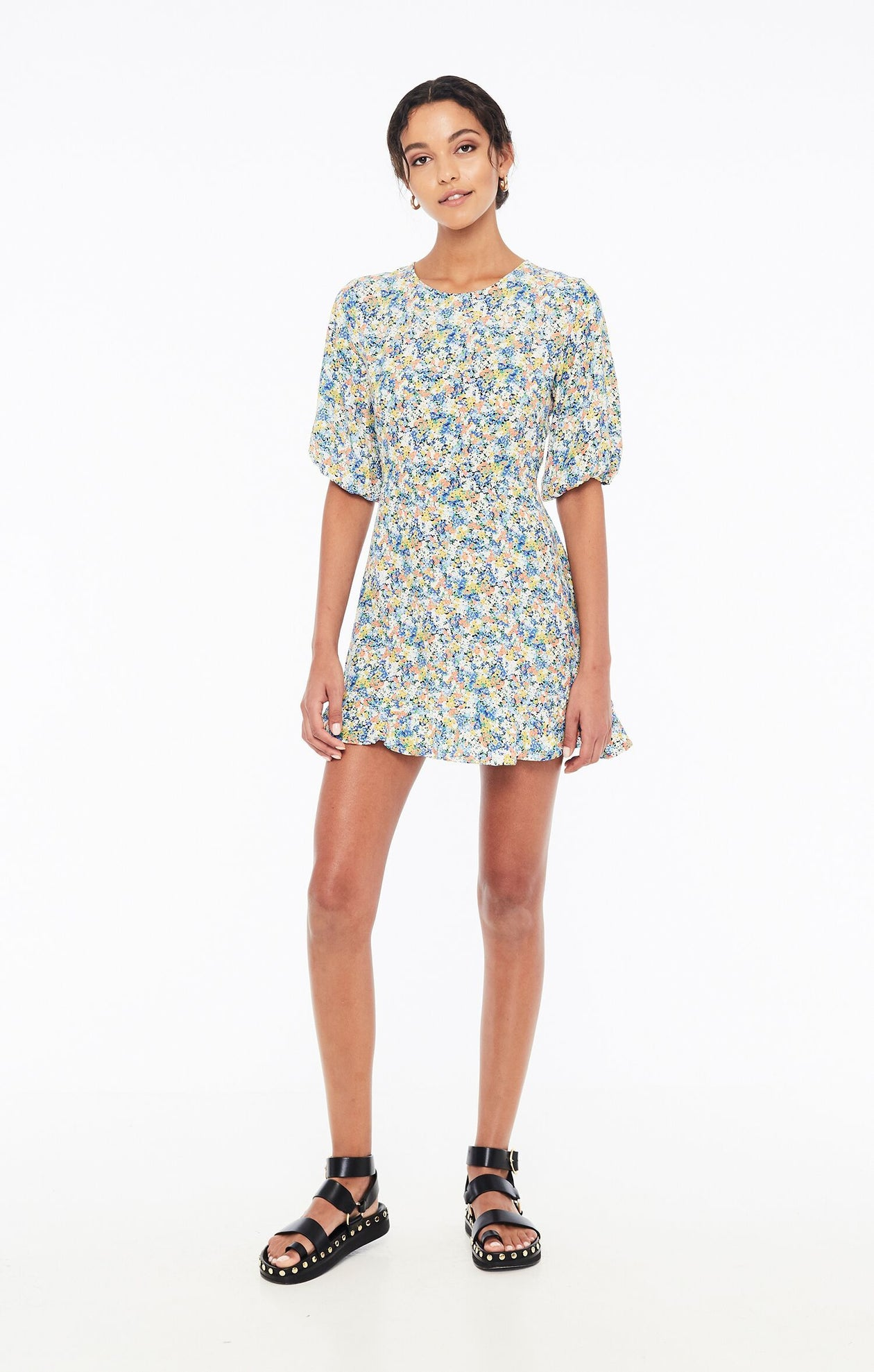 Jeanette Dress in Vionett Floral Print by Faithfull The Brand | Floral Printed Mini Dress