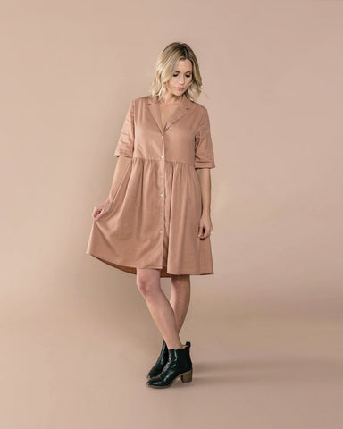 Jeanette Dress - Truffle