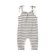 Load image into Gallery viewer, Jersey Jumpsuit Navy Stripe by Go Gently Nation | Children's Jumpsuits 100% Organic Cotton