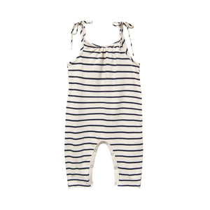 Jersey Jumpsuit Navy Stripe by Go Gently Nation | Children's Jumpsuits 100% Organic Cotton