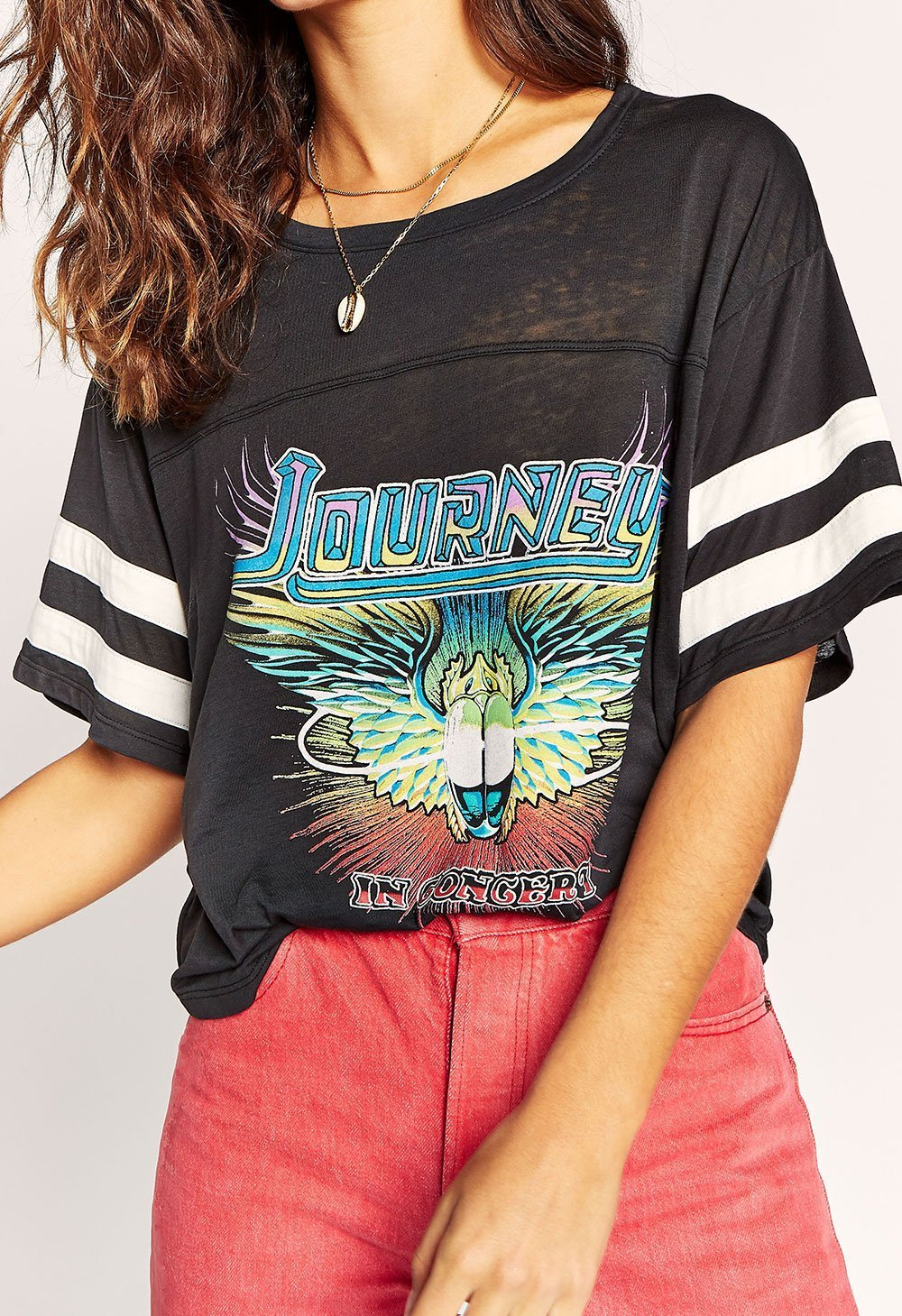 Journey In Concert Football Tee Daydreamer LA
