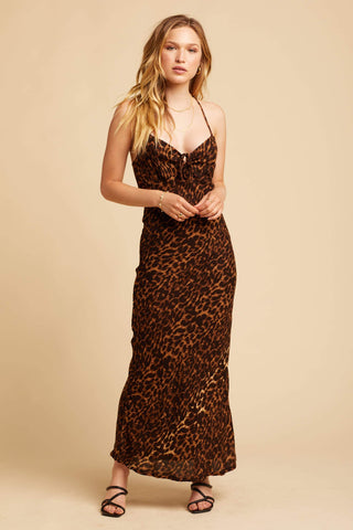 Juanita Slip Dress - Leopard