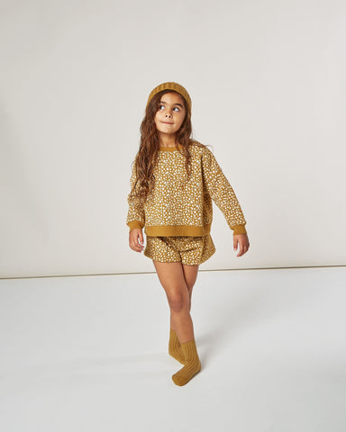 Girls Golden Berry Sweat Short - Goldenrod
