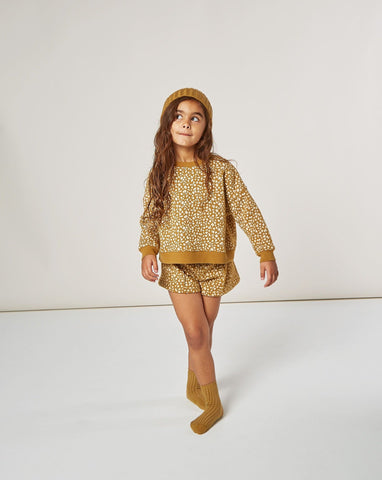 Girls Golden Berry Boxy Pullover - Goldenrod