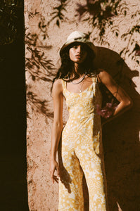 Kasbah Jumpsuit in Hestia Floral Print Jasmine Yellow by Faithfull The Brand
