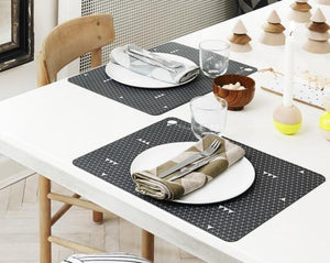 Placemat Grey Line - 2 Pcs/Pack - Dark Grey