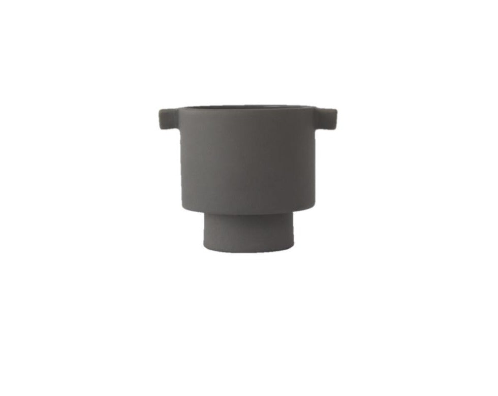 Small Inka Kana Pot in Grey