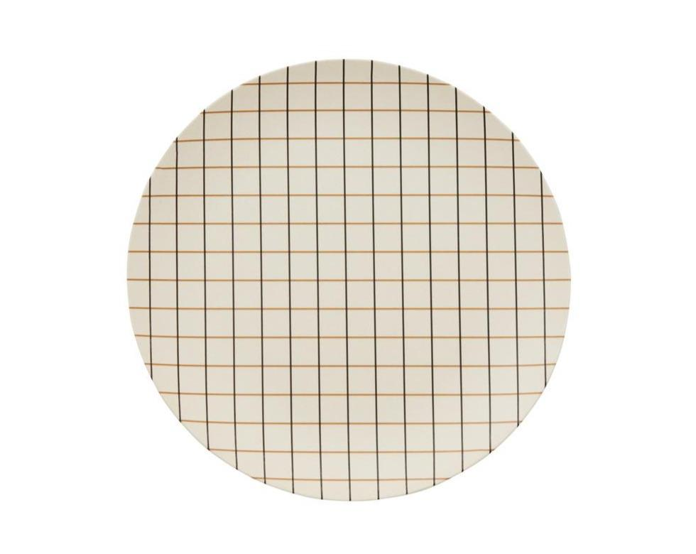 Bamboo Grid Tray - Small - Offwhite / Rubber