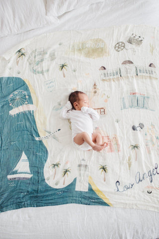 Muslin Swaddle - Cities - Los Angeles by Loulou Lollipop