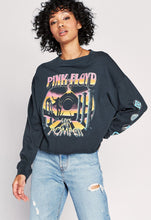 Load image into Gallery viewer, Pink Floyd Pompeii Long Sleeve Crop - Vintage Black | Daydreamer - December 20 Capsule - Women's Vintage Shirts