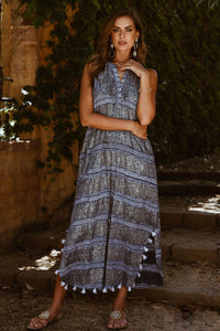 Surrey Maxi Dress in Navy from Rubyyaya - Womens