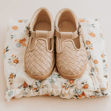 Load image into Gallery viewer, Consciously Baby Shoes Leather Woven T-Bar Baby Toddler Shoe
