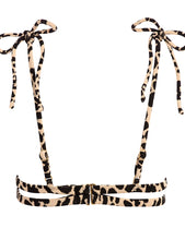 Load image into Gallery viewer, Leopard Texture Palua Ties Top Montce Swim