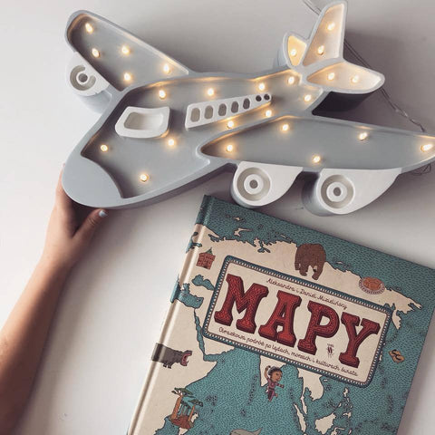 Little Lights Airplane Lamp - Gray