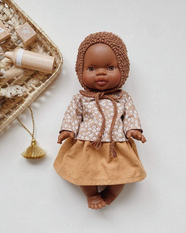 MiniKane Little African Baby Girl Doll - Brown Eyes