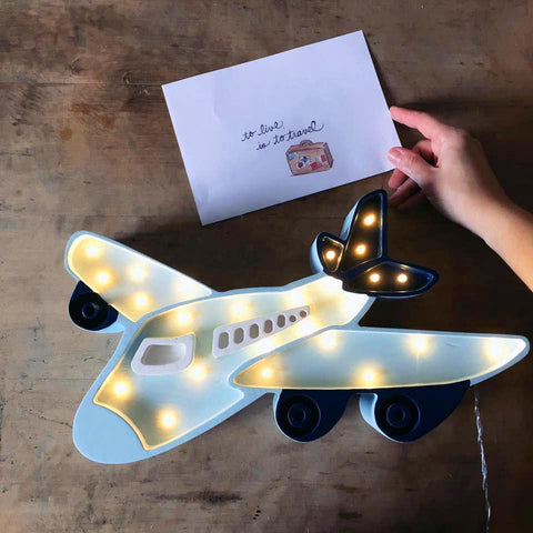 Little Lights Airplane Lamp - Blue