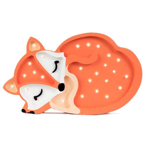 Little Lights Baby Fox Lamp - Orange | Kids Wooden Toys & Nursery Decor