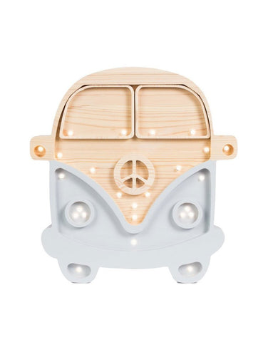 Little Lights Camper Van Lamp - Wood Grey