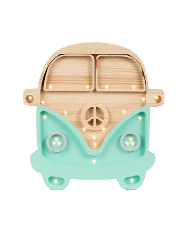 Little Lights Camper Van Lamp - Wood Mint