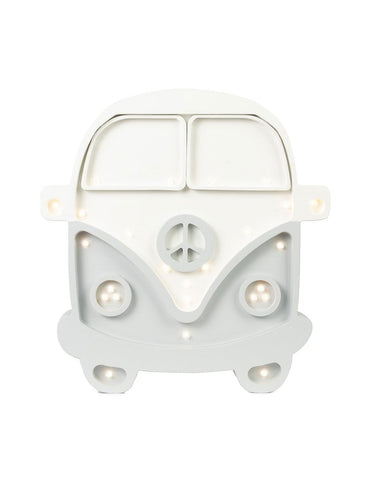 Little Lights Camper Van Lamp - White Grey