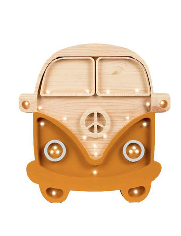 Little Lights Camper Van Lamp - Mustard Wood