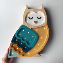 Load image into Gallery viewer, Little Lights Owl Lamp - Retro | Kids Wooden Toys & Nursery Decor