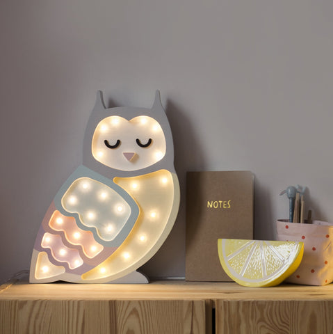 Little Lights Owl Lamp - Pastel