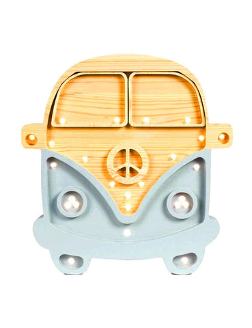 Little Lights Camper Van Lamp - Wood Blue