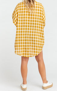 Lorolie Tunic in Check Me Gold by Show Me Your Mumu | Summer Clothing for Women
