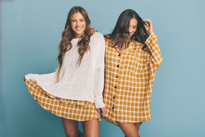 Lorolie Tunic in Check Me Gold by Show Me Your Mumu | Yellow Dresses