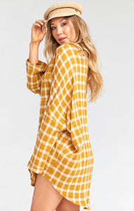Lorolie Tunic in Check Me Gold by Show Me Your Mumu | Womens Dresses