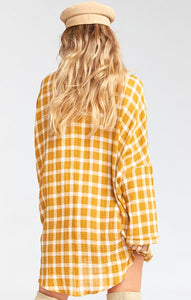 Lorolie Tunic in Check Me Gold by Show Me Your Mumu | Womens Tunics