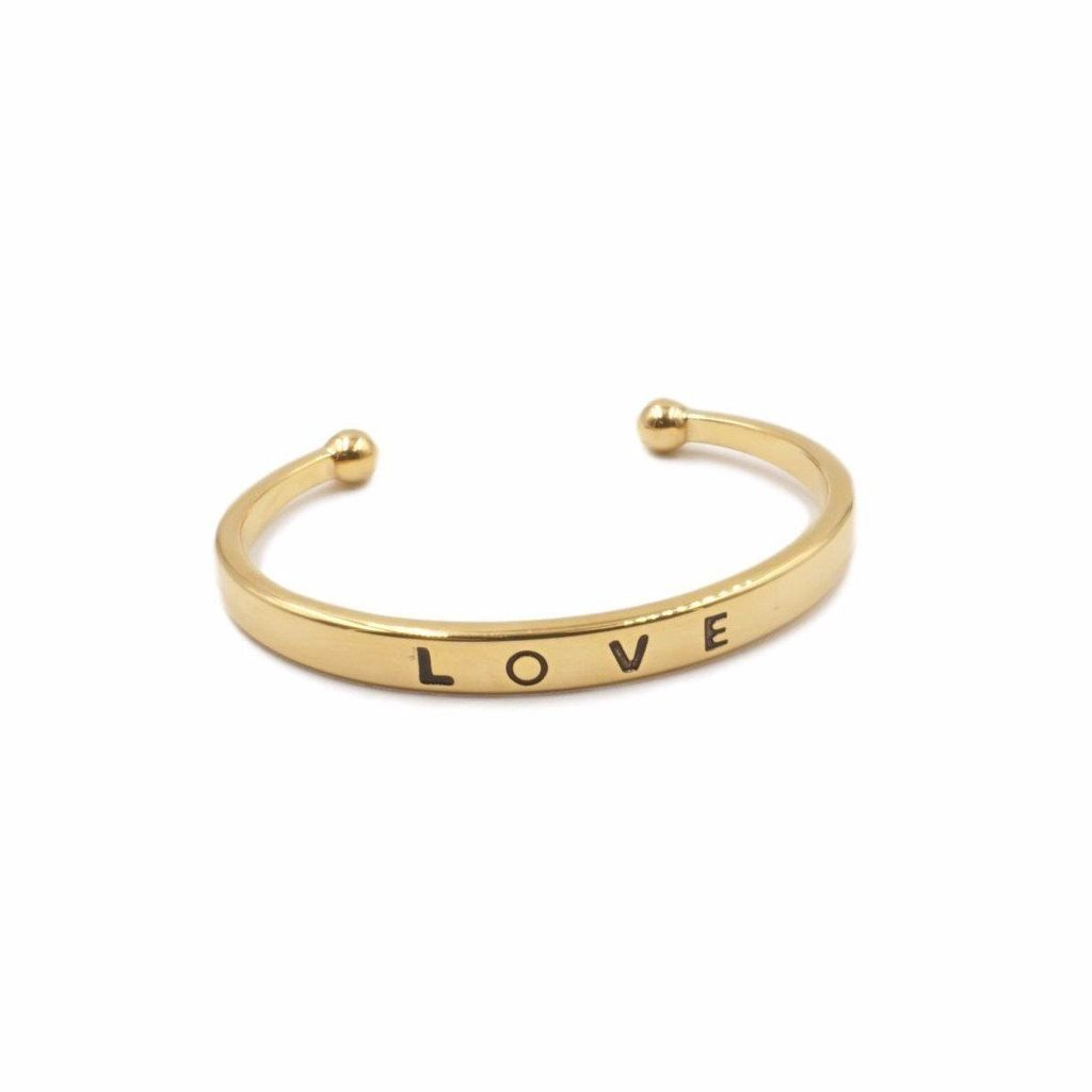 Love Collection - Gold Bracelet by Kinsley Armelle