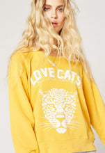 Load image into Gallery viewer, Love Cats Varsity Sweatshirt