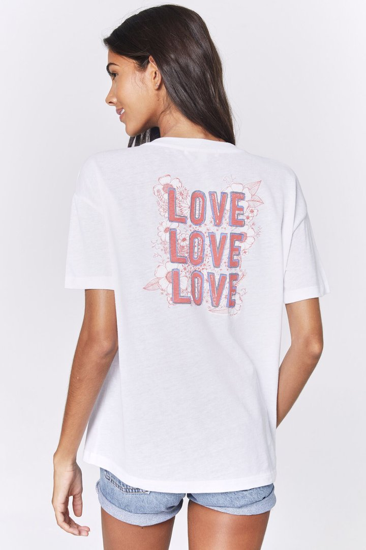 Load image into Gallery viewer, Love Plunge Tee - White Spiritual Gangster