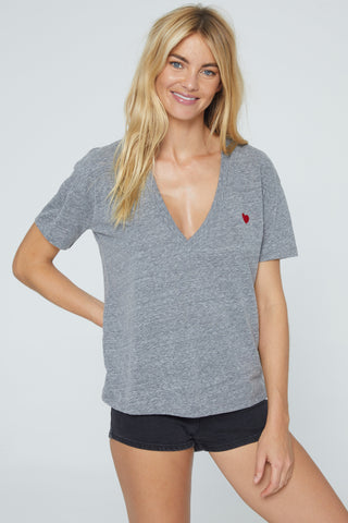 Love Plunge V Neck - Grey