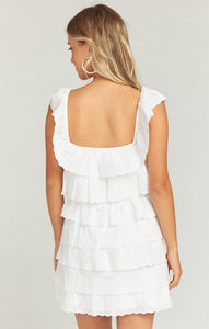 Lucy Mini Dress in White Eyelet by Show Me Your Mumu | Womens