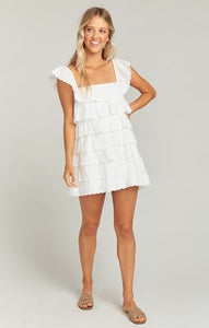 Lucy Mini Dress in White Eyelet by Show Me Your Mumu
