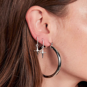 Luv Aj Amalfi Tube Hoops Silver Earrings