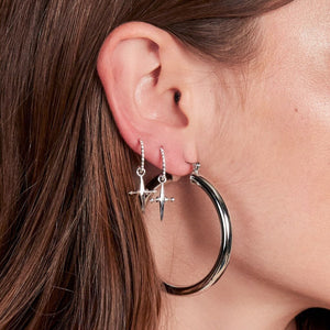 Luv Aj Earrings Silver Amalfi Tube Hoops