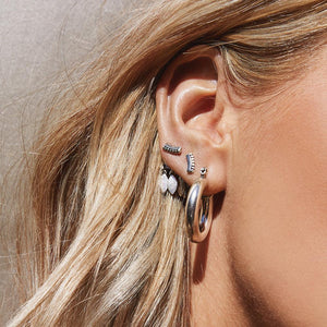 Luv Aj Baby Amalfi Tube Hoops Silver Earrings