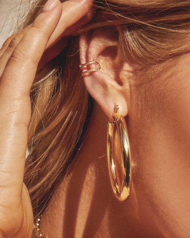 Amalfi Tube Hoops Gold