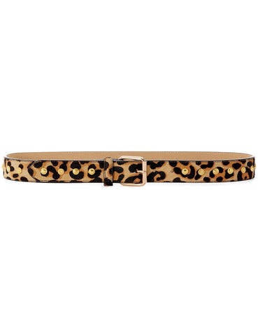 Luv AJ The Bella Studded Belt Gold | Women's Leopard Print Belts