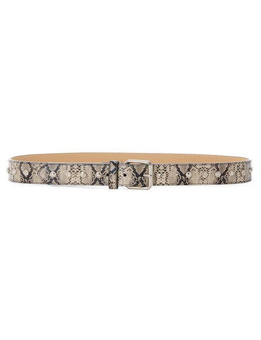 Luv AJ The Bella Studded Belt Silver | Women's Silver Snakeskin Belts