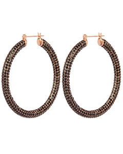 Luv Aj Pave Amalfi Hoops Rose Gold & Jet