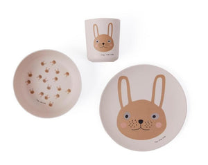 Rabbit Bamboo Tableset