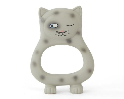 Benny Cat Baby Teether - Grey